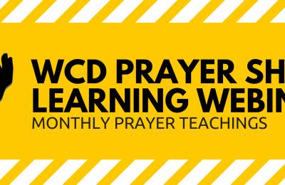 WCD Prayer Learning Webinars Image